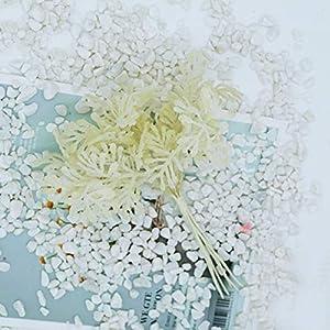 6Pcs/Lot Artificial Plants For Wedding Home Decoration Accessories Scrapbooking Diy Wreath Silk Flowers Ornamental Flowerpot,milk white