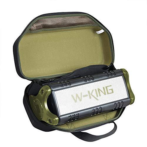 Hermitshell Hartschalen-Schutzhülle für W-KING Bluetooth-Lautsprecher (Schwarz + Grün, Ethylenvinylacetat (EVA))