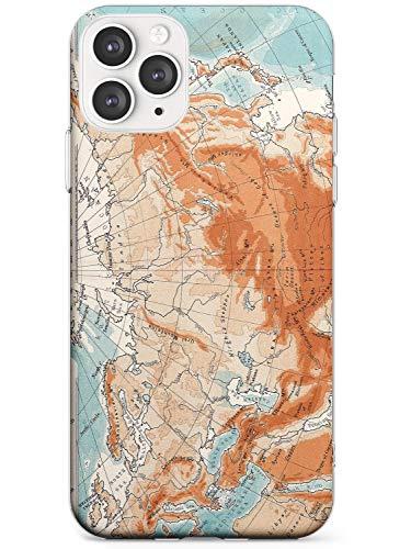 Mapas De La Vendimia De Asia: Asia Del Norte Estuche delgado para iPhone 11 Pro | Claro Silicona TPU Protector Ligero Ultra Thin Cubrir Patrón Impreso | Viaje Pasión De Viajar Asiático Continente Mund