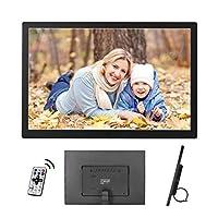 デジタルフォトフレームモーションセンサーおよびリモコン付き13インチHDデジタルフォトフレーム16:9ワイドスクリーンLEDスクリーンデジタルフォトフレーム,Black