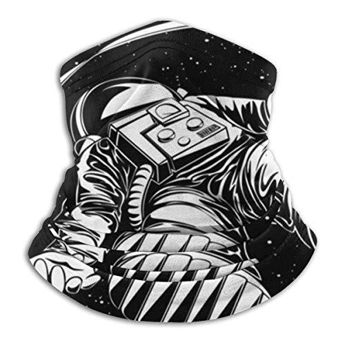 Lsjuee Media, polaina, bandana, bufanda de tubo, pasamontañas, sombreros resistentes, astronauta perdido Flying Spaceman On Science Soft Neck Warmer pasamontañas Capucha para motocicleta Cic