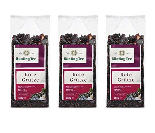 Bünting Tee Rote Grütze, 200g loser Tee, 3er Pack