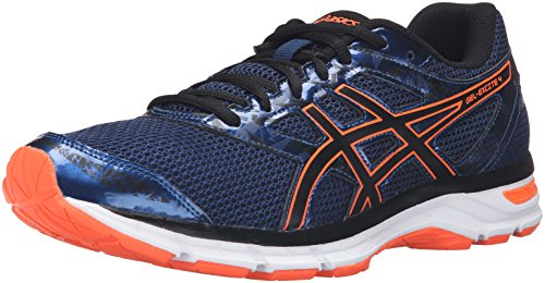 ASICS Men's Gel-Excite 4 Running Shoe, Poseidon/Black/Hot Orange, 10.5 M US