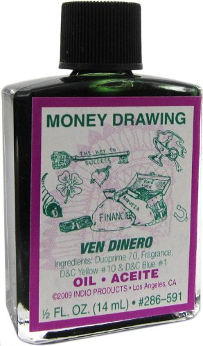 Indio Products Money Drawing Oil 1/2 fl. oz.