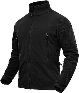 TACVASEN Men's Outdoor Stand Collar Full-Zip Tactical Military Fleece Jacket