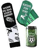 Fussball Socken - Geburtstagsgeschenk für Fußballfans und Fußballer, in einer Design...