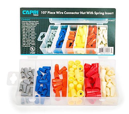 Capri Tools 10017 UL Approved Connectors, 107-Piece