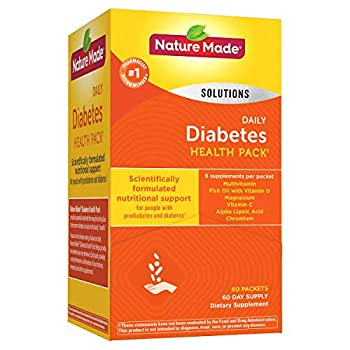 Diabetes Health Pack Nutritional Support for Diabetes and Pre-diabetes of 60 Packets  6 VITAMINS