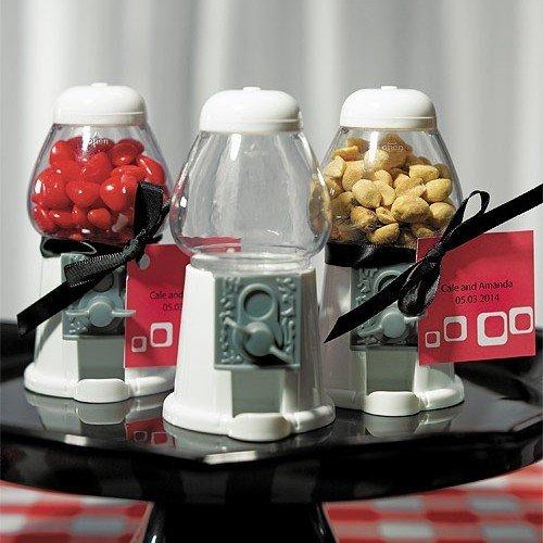 Mini kauwgom automaat wit - een geweldig idee als gastgeschenk voor bruiloft, doop of kinderverjaardag door Weddix