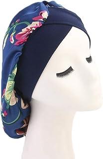 8a3ae31f2e4 DuoZan Women s Soft Silky Satin Turban Elastic Wide Band Satin Bonnet Night  Sleep Hat Hair Loss