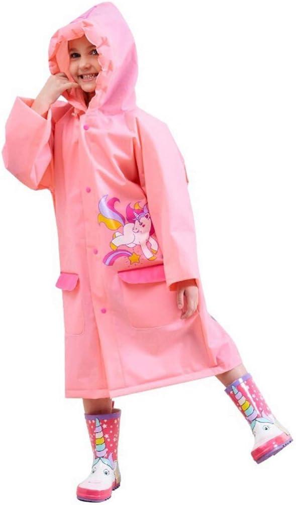 ZHANGQIANG Environmentally No Plastic Smell Raincoat Girls Reusable Portable Waterproof Raincoat Long with Drawstring Hood (Color : White, Size : L)