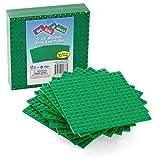 Brick Building Base Plates - 5 x 5 Green Baseplates...