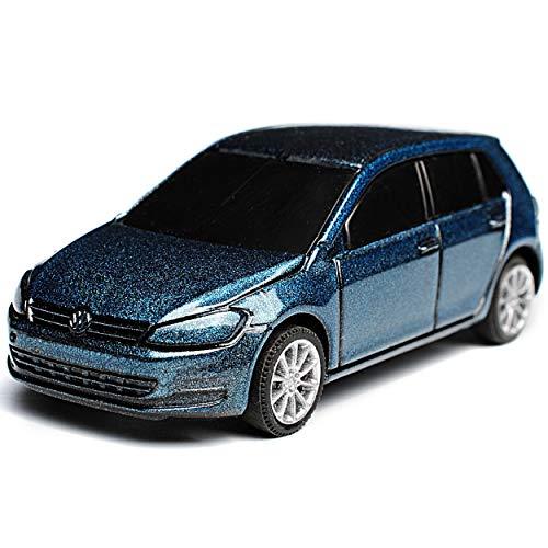 Rietze Volkwagen Golf VII Blau Grau 5 Türer Ab 2012 1/64 Modell Auto mit individiuellem Wunschkennzeichen