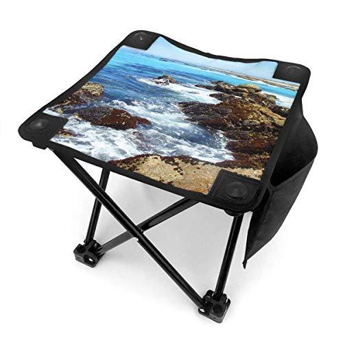 End Nazi Tabouret de Camping chaises Pliantes Summer Beach Blue Sea Reef Siège de Chaise Portable
