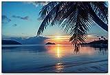 bestforhome 60x40cm Leinwandbild Sonnenaufgang an einem