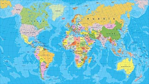 LDM 1000 stukjes volwassen puzzel wereldkaart Olieverfpuzzel Volwassen kinderspeelgoed Finish Afmetingen 75x50 cm Beste huisdecoratie