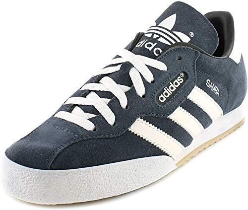 adidas Samba Super Wildleder Hallenfußball Turnschuhe - Marine Wildleder/Weiß - UK Größen 6-13 - Marine Wildleder/Weiß, Marine Wildleder/weiß, 43 ⅓