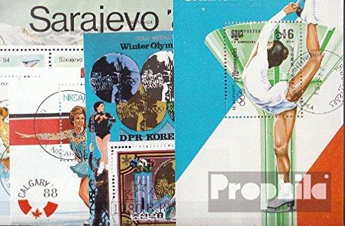 Prophila Collection Motivazioni 10 Diversi Pattinaggio Blocchi (Francobolli per i Collezionisti) Sport Invernali