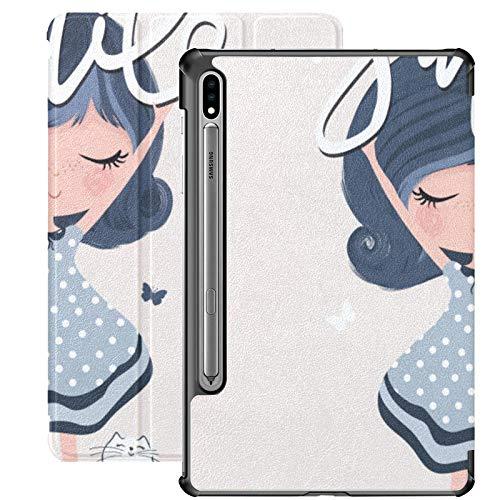 Dibujos animados niñas bastante moda Samsung Tab A caso para Samsung Galaxy Tab S7/s7 Plus Tablet caso soporte contraportada Tablet con funda para Galaxy Tab S7 11 pulgadas S7 Plus 12.4 pulgadas