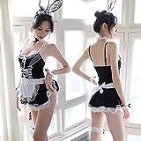 YINSHENG Disfraz de Cosplay de Enfermera Conjunto Completo de Disfraces Ropa Interior de Mujer Dobladillo Travieso Hacer Disfraces Disfraz de Fiesta Conejo Chica Uniforme de mucama Disfraz de co