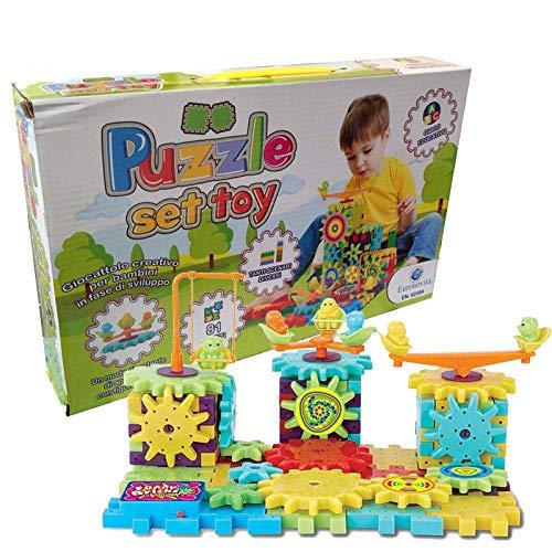 Euronovità Srl EN- 82599 Puzzle Set Toy Super Stickers Gioco Creativo per Bambini. Idea Regalo Bimbo.Crea Tanti scenari Diversi con più di 100 Combinazioni. Idea Regalo per Natale