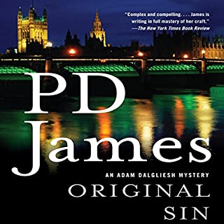 Original Sin     Adam Dalgliesh, Book 9              By:                                                                                                                                 P.D. James                               Narrated by:                                                                                                                                 Penelope Dellaporta                      Length: 20 hrs and 57 mins     161 ratings     Overall 4.3