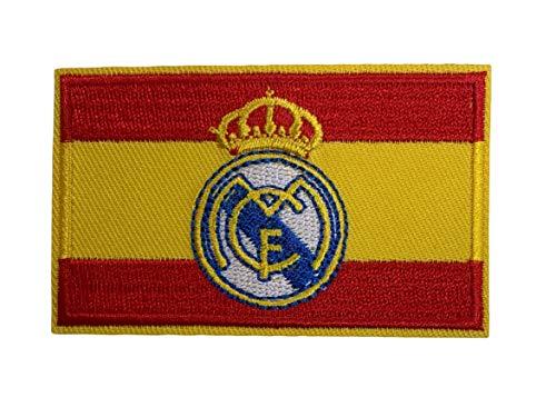 Parche Bandera de España Escudo del Real Madrid 8x5 cm | Muy Adherentes | Patch Stickers Para Decorar Tu Ropa | Fáciles de Poner en Chaquetas Pantalones Camisas y Objetos de Tela