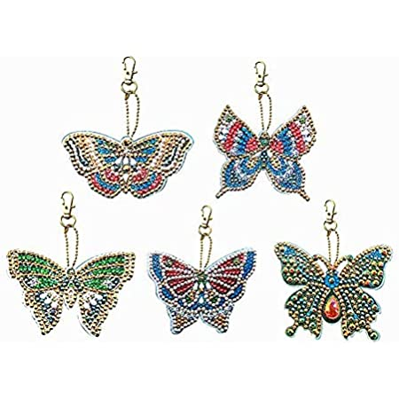 Full Drill Special Shaped Diamond Painting Butterfly Bag Keychain Pendant BEST