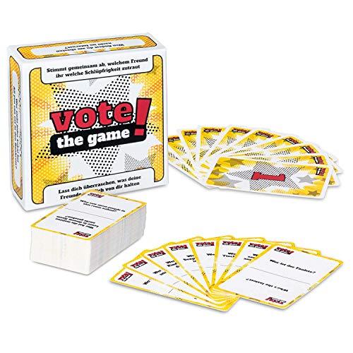 The Voting Game Partyspiel - Das Personality Therapy Gesellschafts-Spiel zum Abstimmen - Lerne Deine Freunde Besser kennen! Deutsch & Englisch