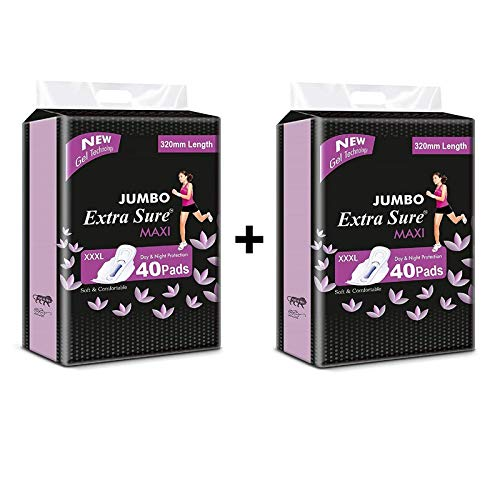 Aapni Brand Extra Sure Sanitary Pads for Women with Wings | Dry-Net Soft & Comfortable Sanitary Napkins for Day & Night Protection (XXL) 320 mm (80 pad + 20 Pantyliner Free)