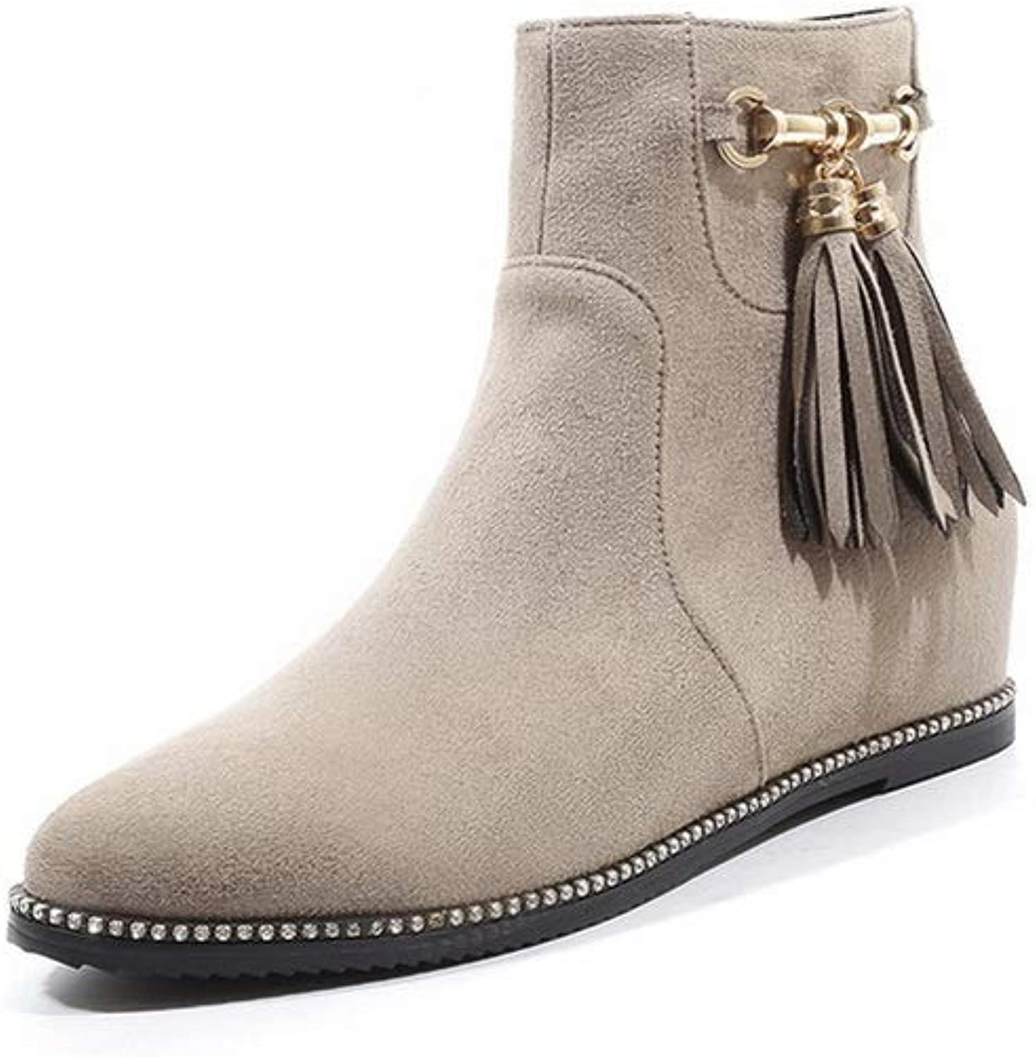 1TO9 Womens Nubuck Fringed High-Heel Urethane Boots MNS03416