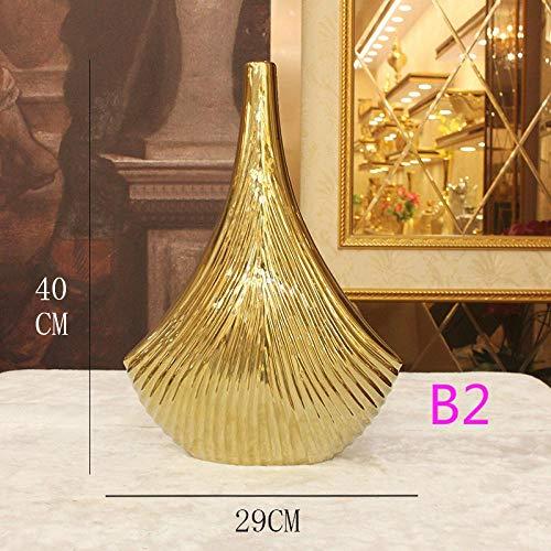 Vase Moderne Einfache Keramikvase Galvanik Aus Reinem Gold Kunsthandwerk Dekoration Blumenladen Hochzeitsvase Hochzeitsvase B2Medium