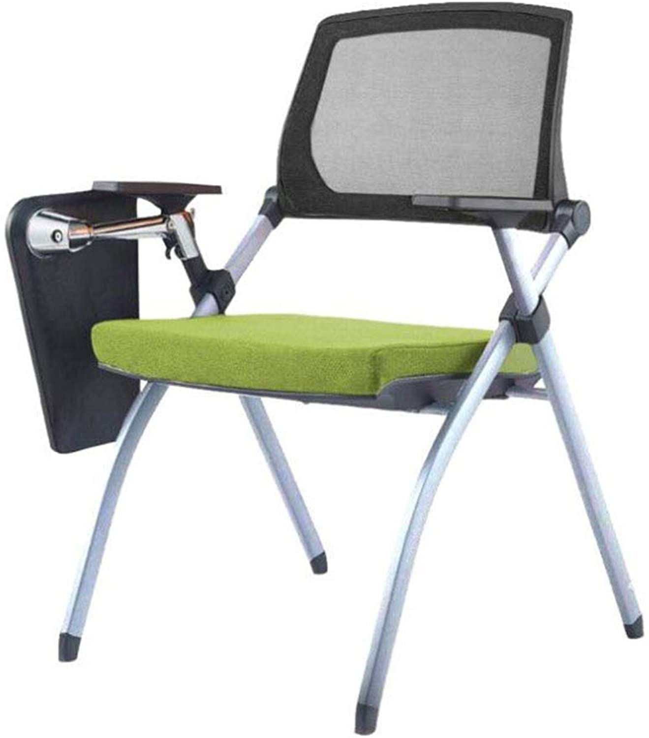 Office Chair Folding Chair Faux Leather Padded Folding Chair Home Office Dining Garden Rest Bench Padded Seat (color   Green, Size   OneSize)