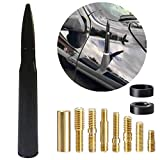 5.5' inch Stubby Bullet Antenna Mast Short Radio Aerial Black Replacement Universal Fit for Ford F Series F150 Raptor F250 F350 F450 Super Duty Ranger Explorer Dodge RAM 1500 2500 3500