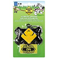With 30 dog waste bags (2 rolls of 15 bags). Dookie Dock is a hands-free poop bag holder that holds two dog waste bags. Metal carabiner makes attaching to any lead (standard or retractable) even easier. Has a sturdy compact design and holds 15 large ...