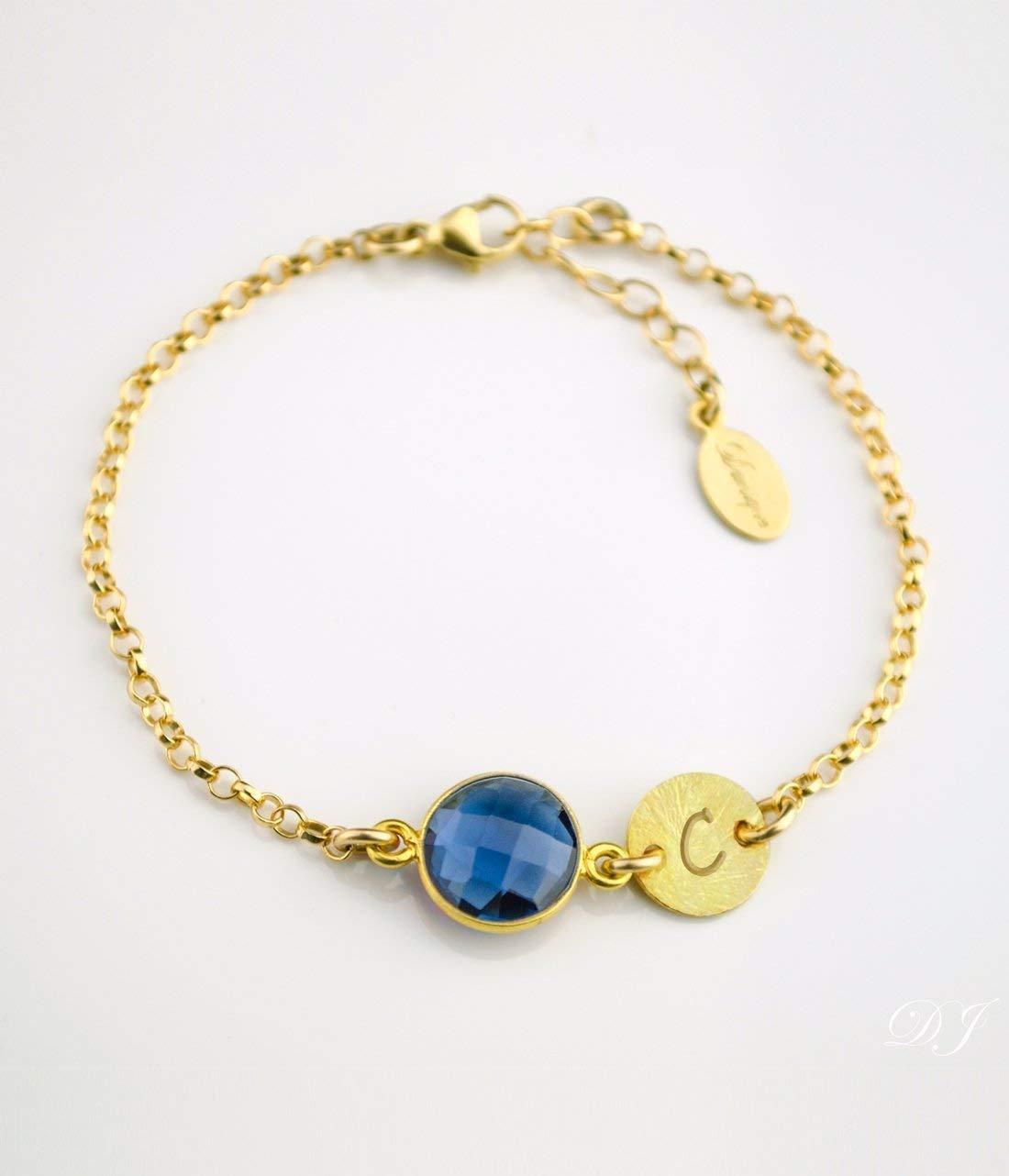 September Birthstone Max 64% OFF Bracelet - Personalized bracelet Kyanite Soldering