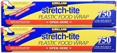 Kirkland Signature Stretch-Tite Plastic Wrap - 11 7/8 x750 feet - 2 pk