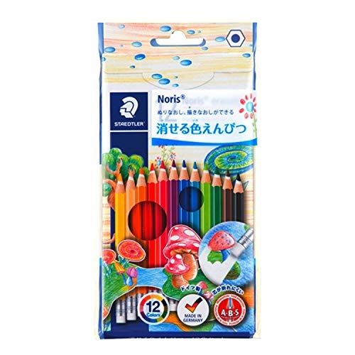 ステッドラー 色鉛筆 12色 消せる 油性色鉛筆 ノリスクラブ 144 50NC12
