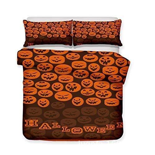 YONGYONGCHONG Größe Bettwäsche Duvet weiche Good Sleep Stoff Halloween Prozess Komfortable Polyester Hohe Reißverschluss atmungsaktiv Durable Easy Care Decke (Color : T1, Size : 220x260CM)