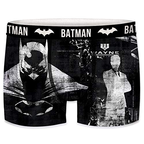 DCComics Black Batman Edition Boxershorts - 4 MEGA Motive zur Auswahl in Größen von S-XXL (M/5/48, Batman vs. Wayne)