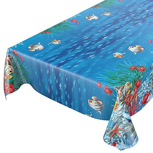Tovaglia in tela cerata lavabile a quadretti verde asciugamani Rund 100cm