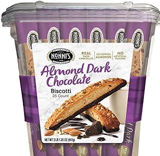 Nonni's Biscotti, Almond Dark Chocolate ノンニのビスコッティ、 アーモンドダークチョコレート940g [並行輸入品]