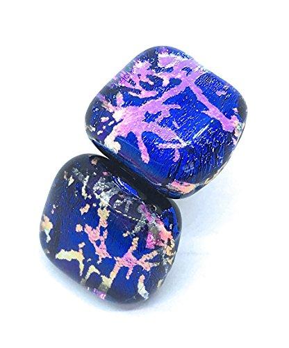 Ohrringe Dichroitisches Glas, ca. 1 cm, inkl. Geschenkbox