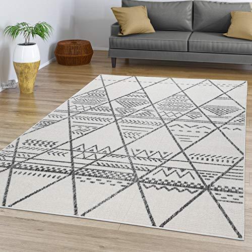 TT Home Alfombra Salón Pelo Corto con Estética Escandinava con Diseño Boho Moderno, Color:Naturaleza, Tamaño:200x290 cm