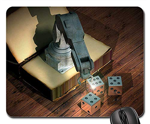 Mouse Pad - Book Robot Cube Simulation Robot Arm Animation