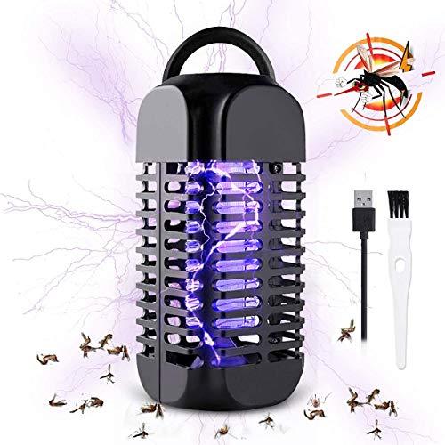 Lamparas Antimosquitos, UV Asesino de Mosquitos, Fuerte Trampa para Mosquitos, Sin Productos Químicos, Carga USB, Alcance Efectivo de 20 Metros Cuadrados, Adecuado para Dormitorio, Oficina, etc
