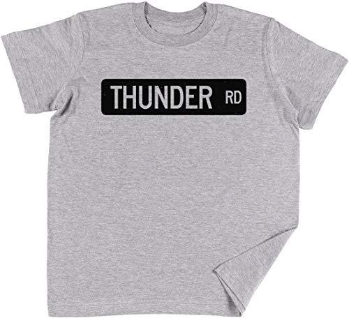 Vendax Thunder Road Street SignNiños Chicos Chicas Unisexo Camiseta Gris
