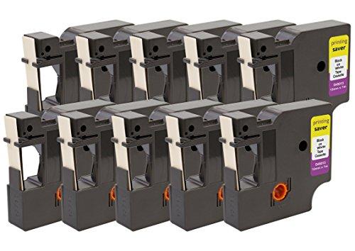 Printing Saver 10x D1 45013 S0720530 Schwarz auf Weiß 12 mm x 7 m Schriftbandkassetten kompatibel für DYMO LabelManager LM 100 160 200 210D 280 360D 420P 500TS PnP LabelWriter 450 Duo Etikettendrucker