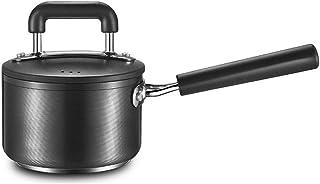 TJLSS Salsa de Pan con Tapa de Vidrio Templado, Utensilios de Cocina Cacerola con Tapa de Seguridad sartén sin Recubrimiento Leche Olla de Ahorro de energía Compuesto Pot Bottom