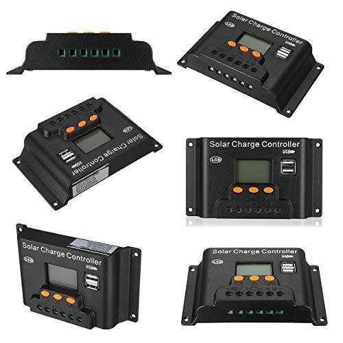 ROUHO 10/20/30/40/50/60A 12V/24V Einstellen PWN Solar Batterie Laderegler Für Solarpanel-60A